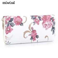 New fashion wallet trend high quality women's wallet printing Large-capacity long wallet Women's leisure handbag wallet miwind