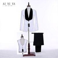 Jacket Pants Vest Office Uniform Designs Women Business Suits Elegant 3 Piece Pant Suits White Formal