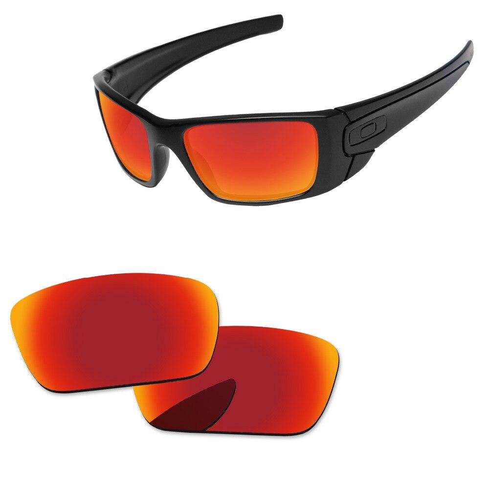 8ca459739f Policarbonato rojo fuego espejo de reemplazo de lentes de Celda de  Combustible de gafas de sol de Marco 100% UVA y UVB protección