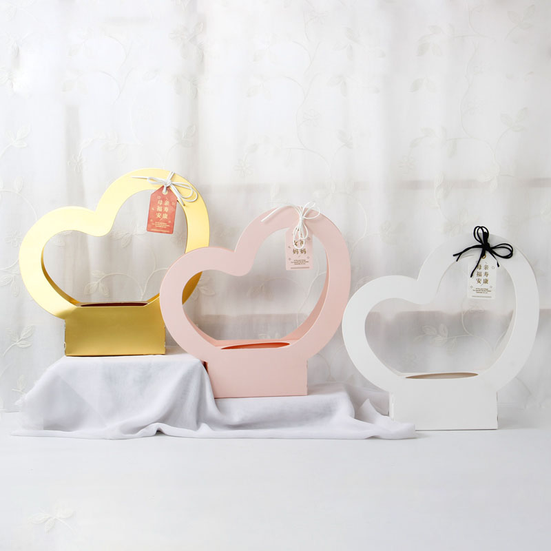 3pcs Heart Shaped Tote Bag Flowers Plant Bag Kraft Paper Gift Bag Valentine 39 s Day Father 39 s Day 520 Flower Bag in Gift Bags amp Wrapping Supplies from Home amp Garden