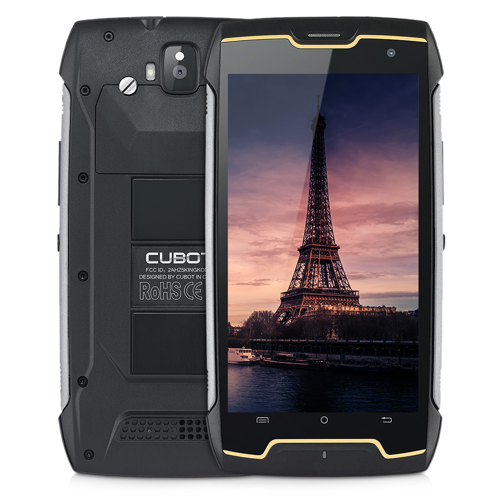 CUBOT Roi Kong 3g Smartphone Android 7.0 5.0 pouce MTK6580 Quad Core 1.3 ghz 2 gb 16 gb IP68 étanche 4400 mah Batterie ROYAUME-UNI Kingkong