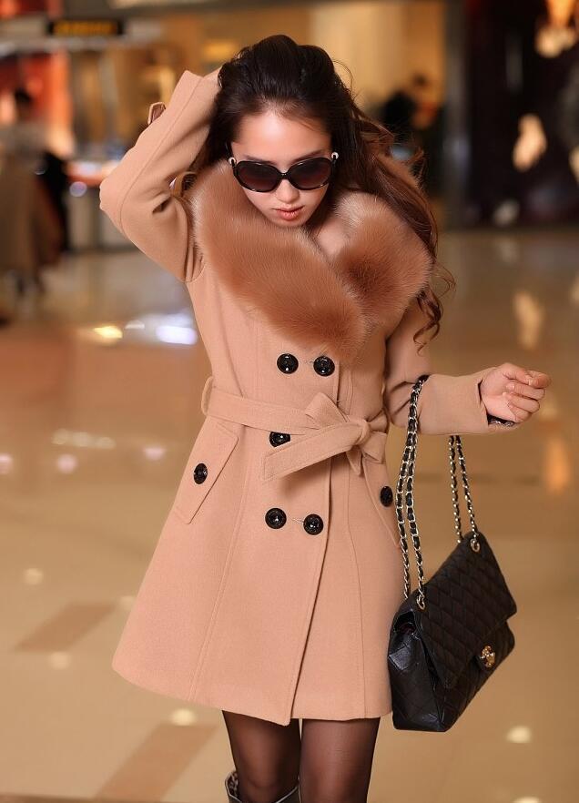 5xl Noir 2017 Automne fuchsia Manteaux Femmes Hiver rouge Plus Veste D'hiver or Manteau blanc Fourrure De gris La kaki Femme Avec Taille r6Zwq0r1