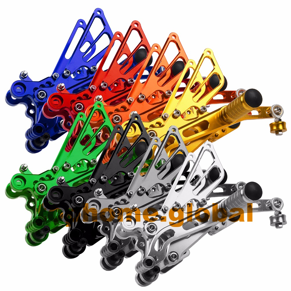 For Yamaha R6 2006 - 2015 CNC Rearsets Foot Pegs Footpeg Rear Brake Shift Adjusting Set 2007 2008 2009 2010 2011 2012 2013 2014 natate new popular men fashion quartz watch leisure business luxury chenxi brand stainless sports wristwatch 1240
