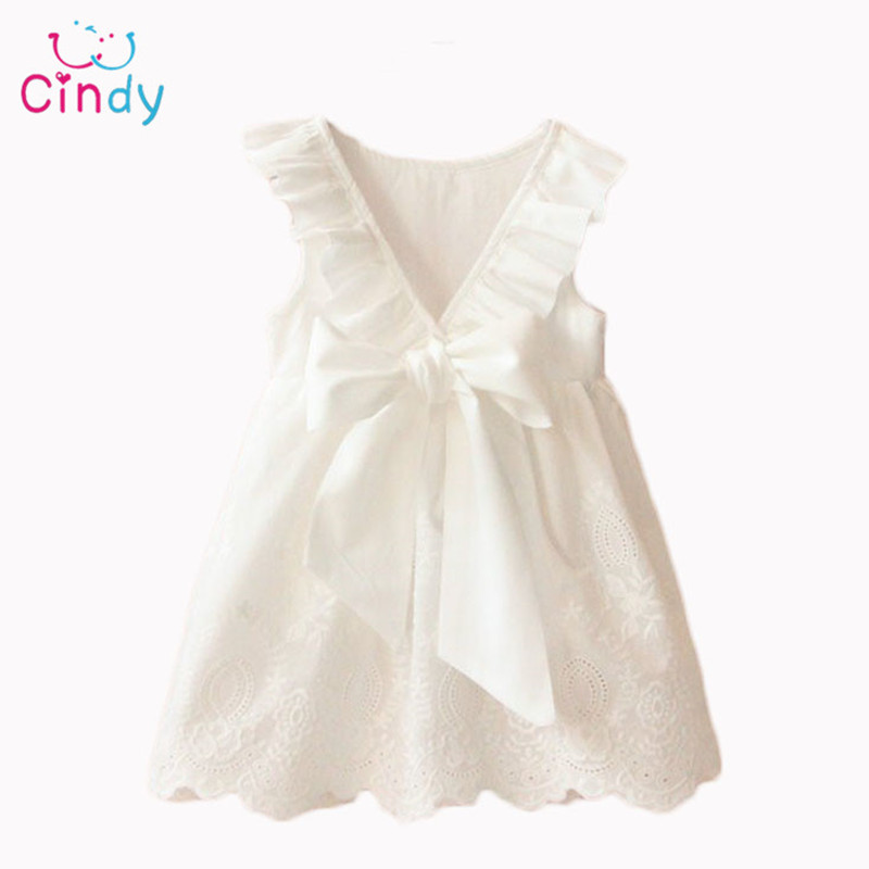 2016 Summer New Princess Girl Dress kids Big Bow Girl Dress Children Clothing dress Girls Vestido Infantis