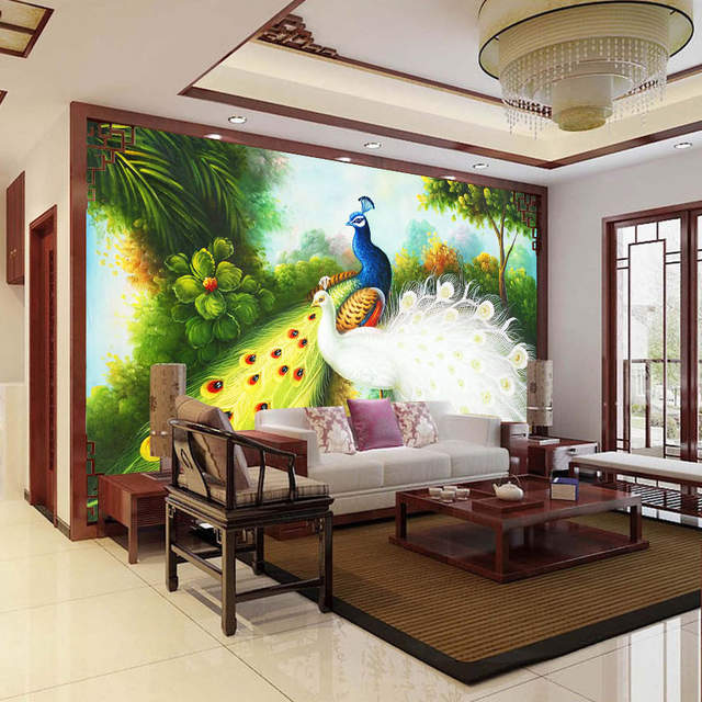 Online Shop Custom Any Size 3D Photo Wallpaper Peacock Background Home Decor  Wall Painting Modern Living Room Sofa Bedroom Mural Wall Paper | Aliexpress  ...