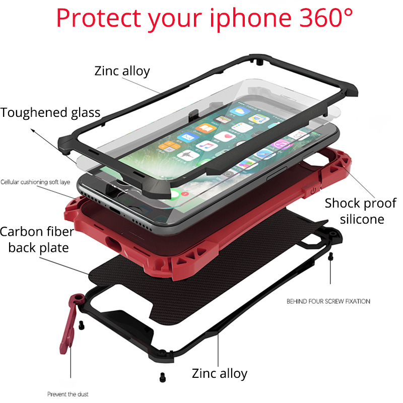 For Iphone 7 Case Luxury Shockproof Splash Water Cover For Iphone 7plus 7 Plus 360 Full