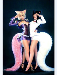 2019 Popular Game LOL Prop KDA Nine Tails Fox Ahri Oversized tails Various specifications