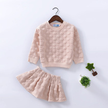 2016 The Original ChanTong Suits In The Spring and Autumn Children Children's Han Edition Tide Girls Suit Two-piece Outfit