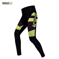 WOSAWE Cycling Tights Quick Dry Cycling Pants Bike Bicycle Long Pants Thin Trousers Hip Protective Pad