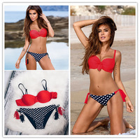 Sexy Bikinis Women Swimsuit 2017 Summer Low Waisted Bathing Suits Halter Top Push Up Bikini Set