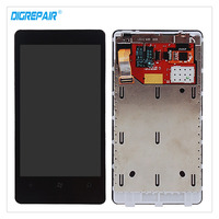 100 Test Black For Nokia Lumia 800 LCD Display Touch Screen Digitizer Glass Panel Assembly Repair