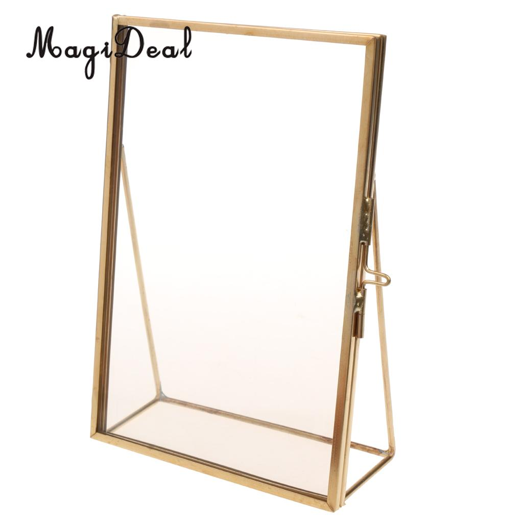 MagiDeal Antique Glass Picture Photo Frame Stand Gift