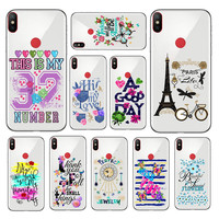 PERSONALIZED CUSTOM Flower Letters Motto Print Pattern Soft Rubber Case Cover For Xiaomi Mi 5 5X 6 6X 7