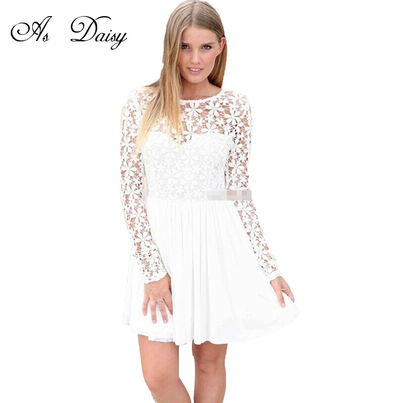 Online Get Cheap Long White Casual Dresses -Aliexpress.com ...