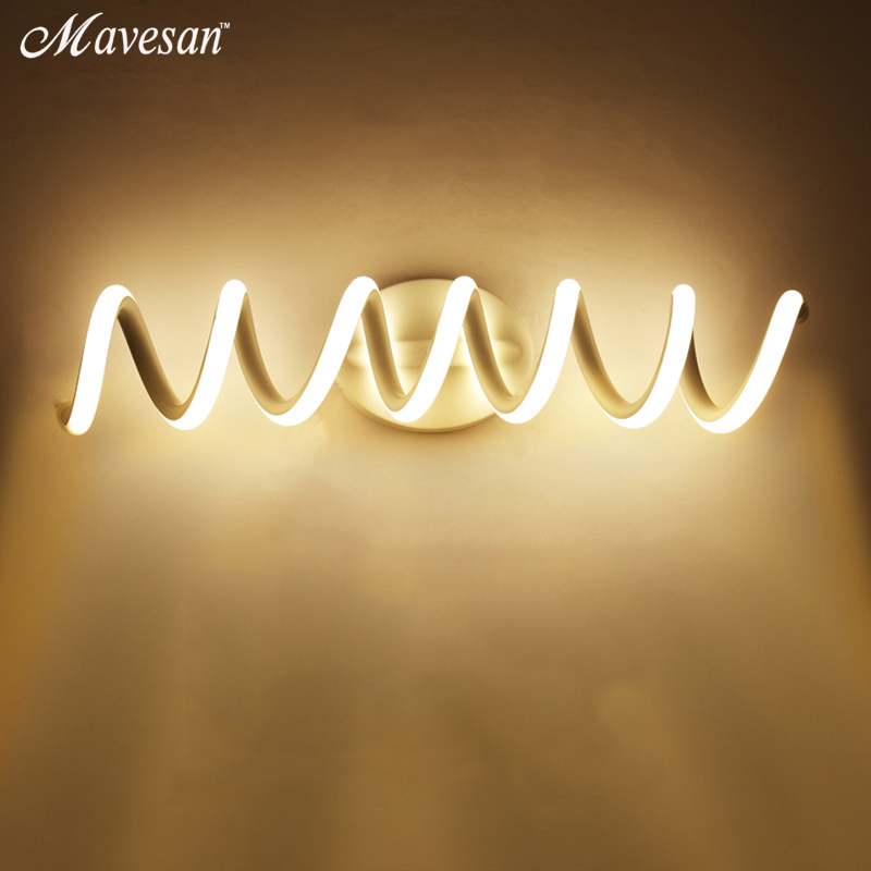 Modern Minimalist LED Wall Lamps Aluminum Bedroom Bedside Lamp Creative Bathroom led Lights led indoor wall Lighting modern minimalist acrylic wall lamps smd led creative circle wall lights bedroom bedside lighting corridor balcony stairs lamp