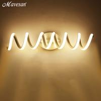 Modern Minimalist LED Wall Lamps Aluminum Bedroom Bedside Lamp Creative Bathroom led Lights led indoor wall Lighting