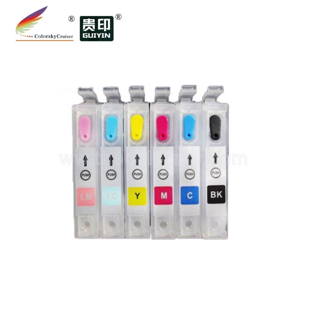 RCE-801-806) многоразовый картридж с чернилами для принтера Epson T0801-806 80 стилус фото R360 RX560 RX585 RX685 bkcmylclm