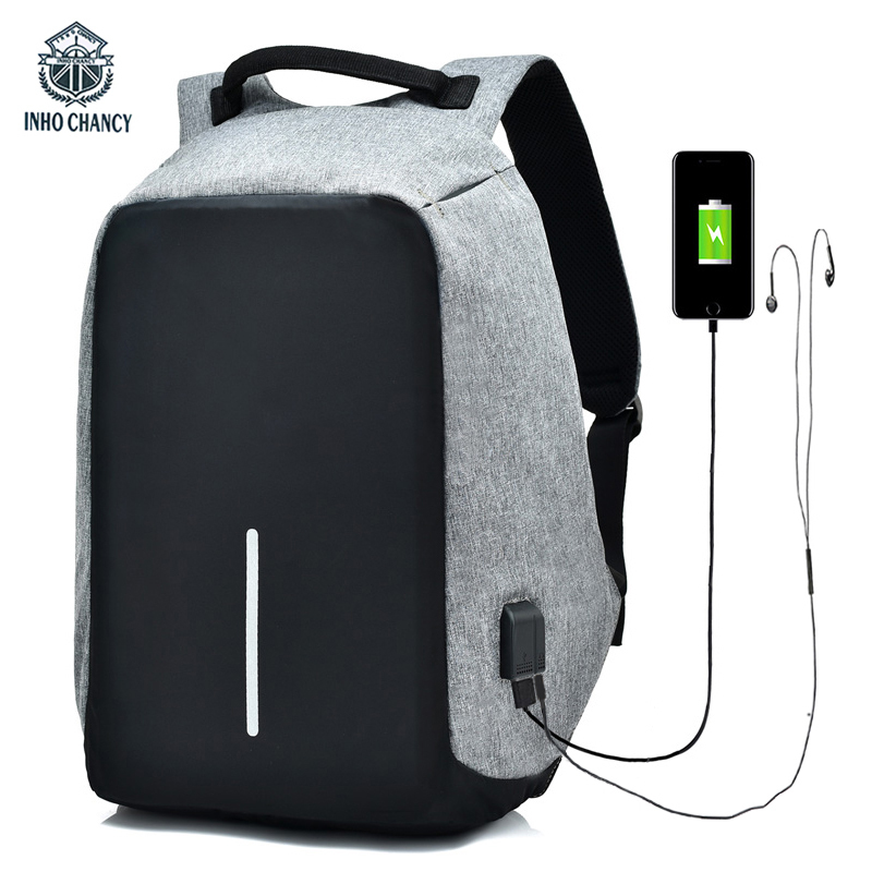 2018 Anti Theft Backpack USB Charge Men Travel Security Waterproof School Bags College Teenage Male 15inch Laptop Backpack augur 2018 brand men backpack waterproof 15inch laptop back teenage college dayback larger capacity travel bag pack for male