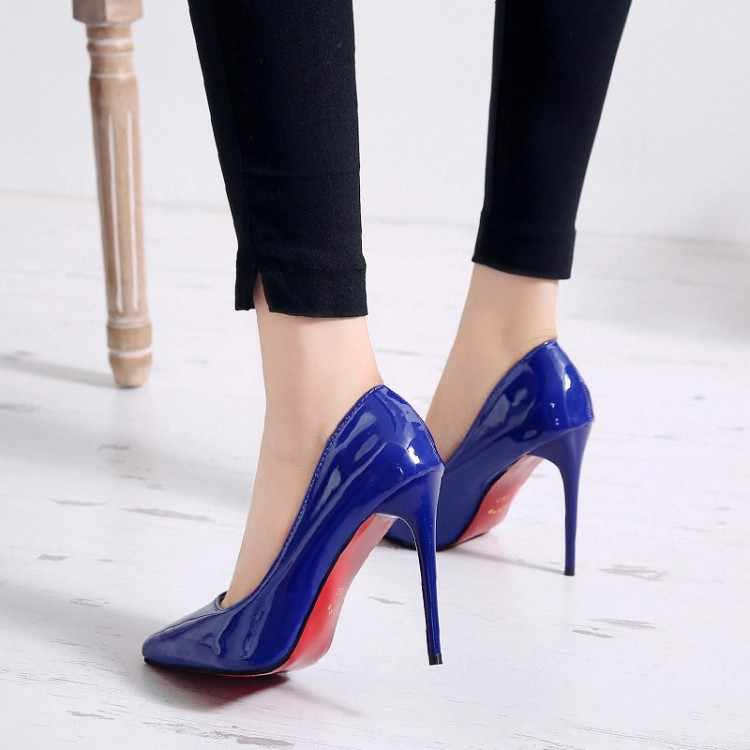 f0d55e93b2b Summer Pointed Toe Sexy High Heels Women Pumps Wedding Women Shoes Heels  Platform Red Bottom Womans Shoes Sandals Plus Size 9 10