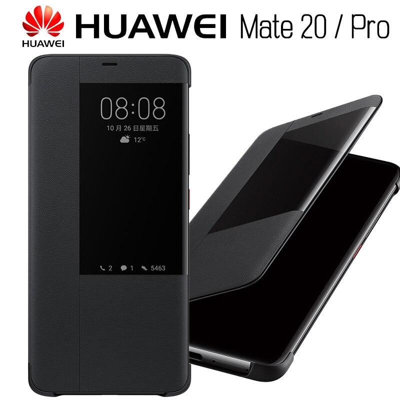 HUAWEI MATE 20 Fall 100% Offizielle Original Smart View MATE20 Spiegel Fenster Flip Leder Schützen Abdeckung HUAWEI MATE 20 Pro fall