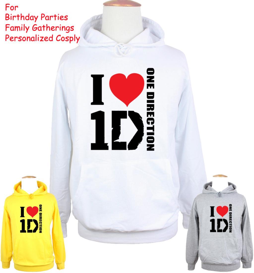 Design t shirt one direction - Unisex Fashion Band I Love 1d One Direction Design Hoodie Men S Boy S Women S Girl S Sweatshirt Tops