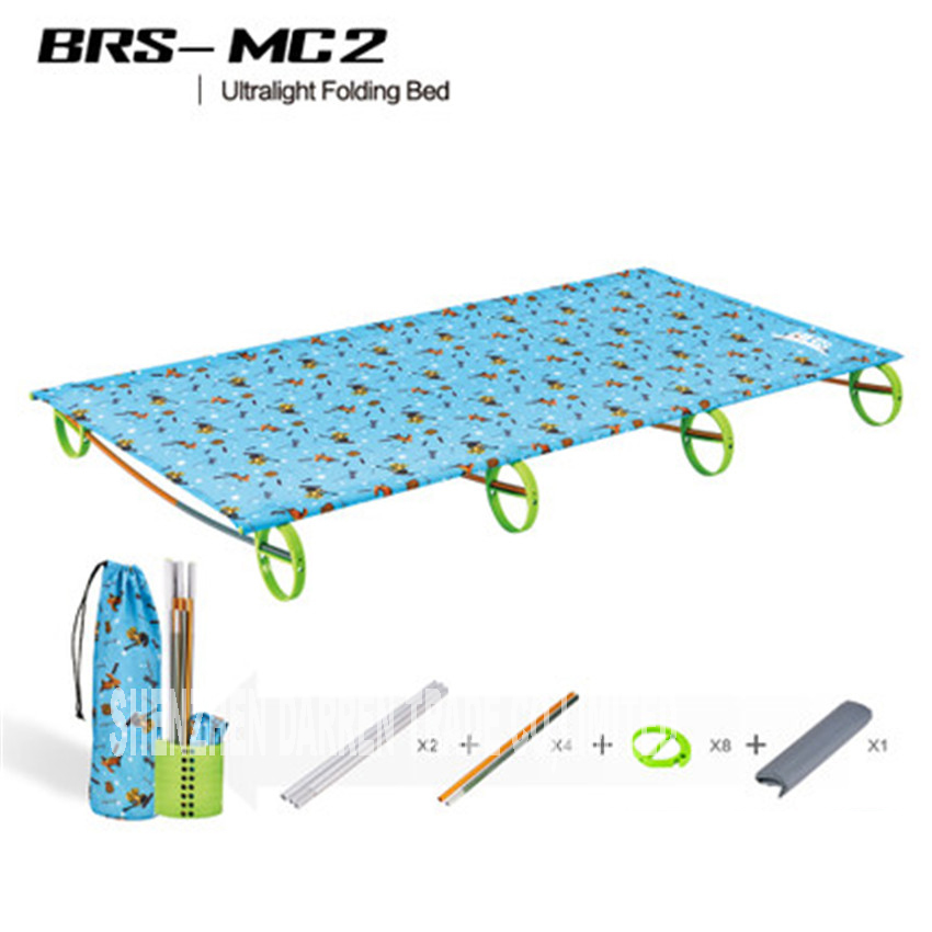 New BRS-MC2 Rugged Comfortable Ultra-Light Portable Aluminum Alloy Camping Outdoor  Folding Tent Bed Break Lunch Camping Bed high quality outdoor 2 person camping tent double layer aluminum rod ultralight tent with snow skirt oneroad windsnow 2 plus