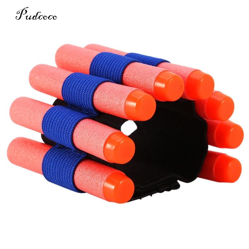 1PCS Carrier Bullet Pouch Wrist Tactical Cuff Bracer Wrist Support Wrister Kids Toy Foam Bullet For Nerf