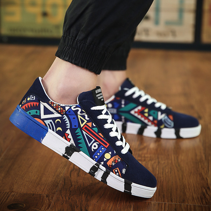 3934875c435f 2018 spring and autumn New Fashion Han edition College of the wind Men  canvas Shoes Student