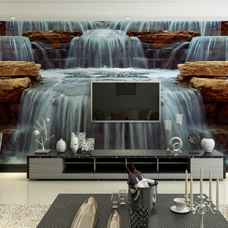 Compare prices on waterfall wall decals online shopping for Custom mural cost