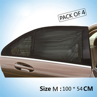 M 4 X Car Rear Window UV Mesh Sun Shades Blind Kids Children Sunshade Blocker Black