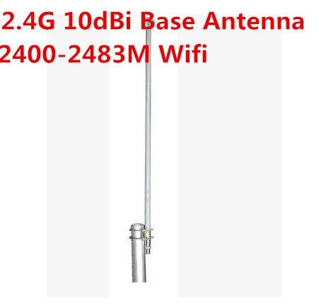 2.4G base antenna10dBi wifi antena de fibra de vidrio al aire libre 2400-2500 M N hembra alta gain10dBi
