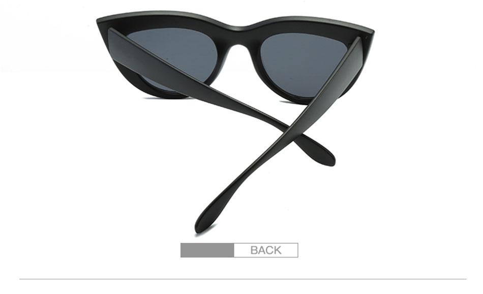 Black Classic Cat Eye Women Sunglasses Designer Brand Trend Style Glasses Adult Eyeglasses 6