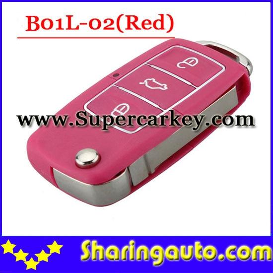 imágenes para Envío gratis (1 unidades) Keydiy B01L-02 Lujo 3 Abotona Llave Alejada con el rojo para URG200/KD900/KD200