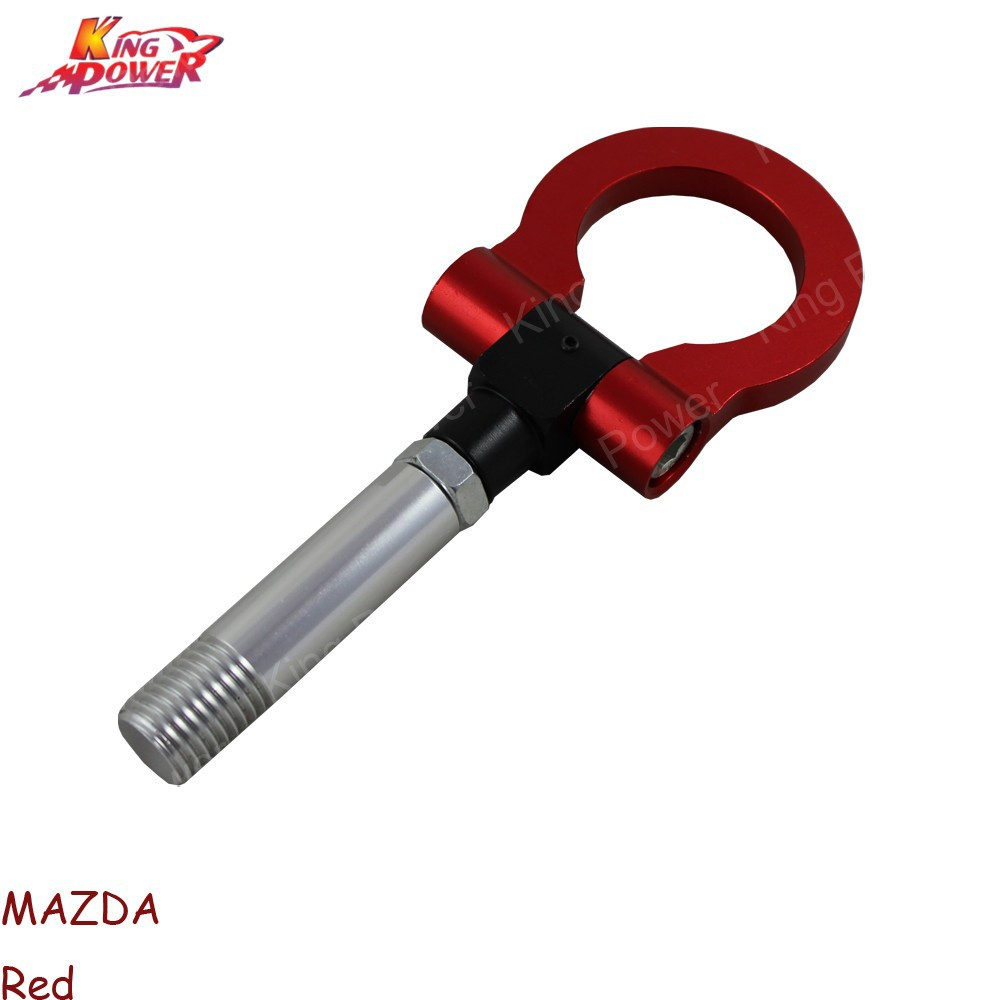 RED FRONT REAR RACING TOW TOWING HOOK SCREW ALUMINUM T2 FOR MAZDA 2 5 6 RX-8 CNC