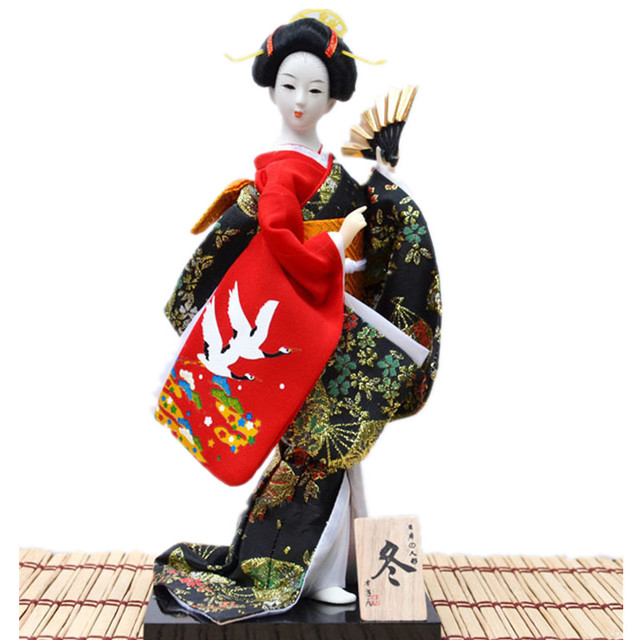 30cm Beautiful Hand made japanese Dancing geisha statue Unique kimono home  decoration novelty gifts for friends