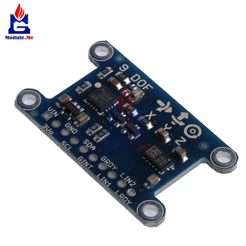 9 Axis IMU L3GD20 LSM303D Module 9DOF Compass Acceleration Digital Gyroscope Sensor For Arduino 3-5V IIC/SPI Protocol DIY KIT