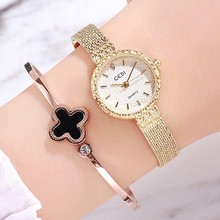 2019 New Gold Mesh Stainless Steel Women Watches Women Top Luxury Casual Quartz Watch Clock Elegant Ladies Brecelet Wrist Watch g f barner die großen western classic 33 – western