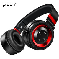 Picun P6 Bluetooth Wireless Headphones with Mic Support TF Card Mp3 & FM Radio Foldable Gaming Headset for Iphone xiaomi sony PC