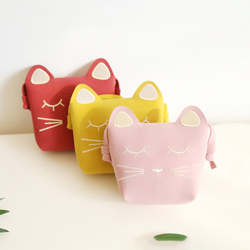 Mini Cute Cat Ear Shoulder Bag Kids All-Match Key Coin Purse Cartoon Lovely Messenger Bag Little Girls Present