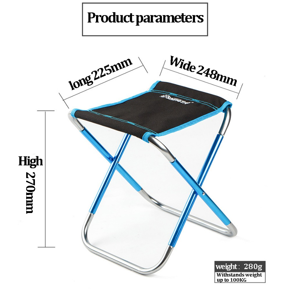 Outdoor Folding Fishing Chair Ultra Light 7075 Aluminum Alloy Portable Folding Picnic BBQ Stool Garden Chair Tools multi functional fishing chair massage chair outdoor folding fishing chair aluminum alloy fishing stool manufacturers wholesale