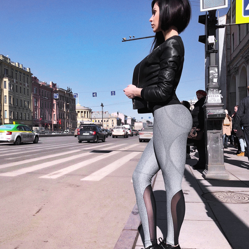 New Women Sexy High Waist Sporting Leggings 2018 Mesh Patchwork Breathable Fitness Legging Hip Push Up Casual Workout Slim Pants image