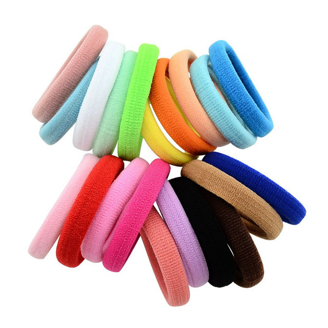 Haimeikang 10PCS Candy Color Elastic Headband Hair Rope Rubber Bands Scrunchy Hair Accessories Gum for Girl Kid Ponytail