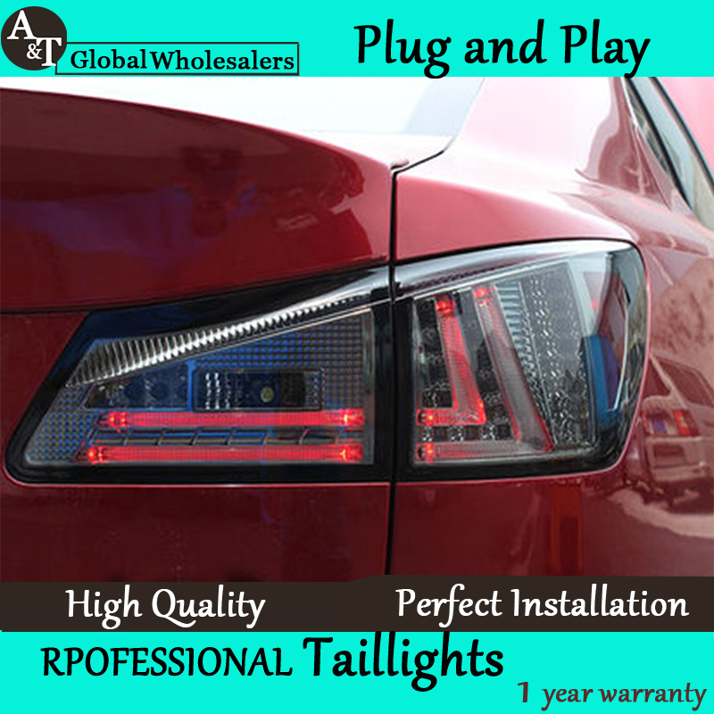 Car Styling for Lexus IS250 LED Taillights 2006-2012 IS300 Tail Lamp Rear Lamp DRL+Brake+Park+Signal led light taillight. car styling tail lights for toyota highlander 2015 led tail lamp rear trunk lamp cover drl signal brake reverse