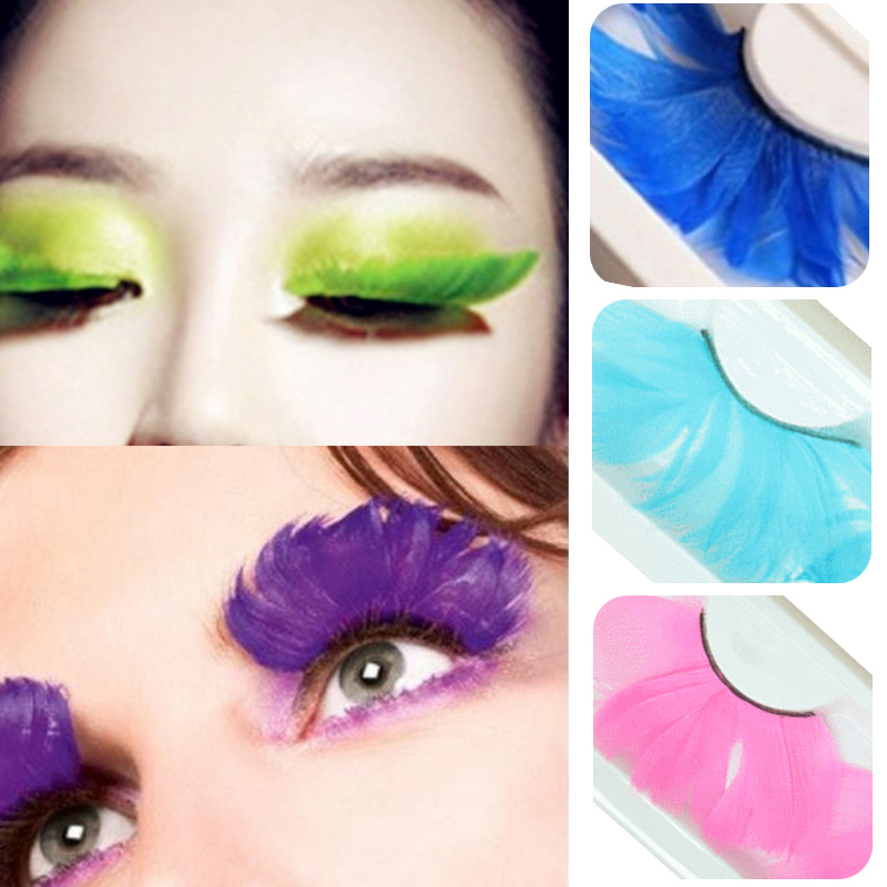 Natural-Long-Feather-False-Eyelashes-Colorful-Exaggerated-Party-Halloween-Beauty-Make-Up-Eye-Lashes-Extension-Fake