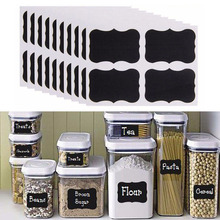 40 Stks/set Pvc Craft Blackboard Sticker Zwarte Keuken Flessen Sticker Voor Jar Organizer Kan Labels Schoolbord Home Decor