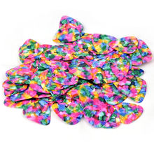 Lots of 100 pcs Medium 0.71mm Heavy 0.96mm Blank Tie Dye Guitar Picks No Print New
