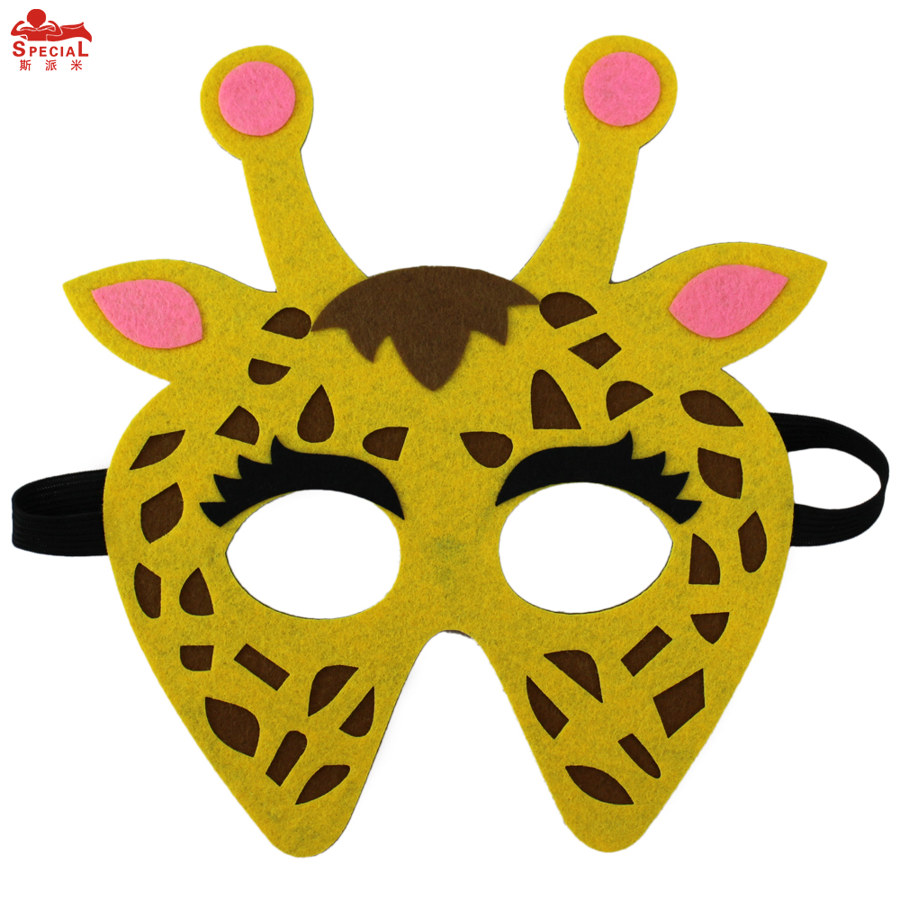 SPECIAL Thick Felt Animal Mask For Kids Monkey Costume Character - Kostumer - Foto 2