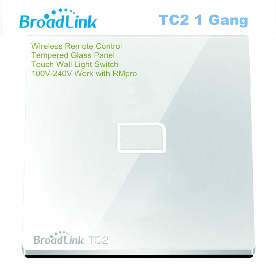 Broadlink EU UK TC2 Wireless 1 2 3 Gang Remote Control Wifi Wall Light Touch Switch 110-240V RF433 Broadlink Rm2 Rm Pro Domotica