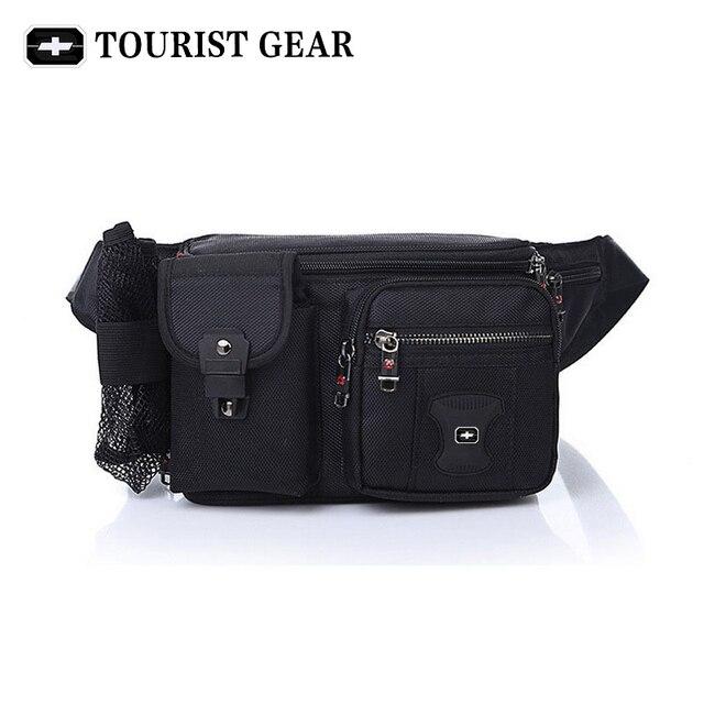Bolsa de cintura suíça para homens e mulheres, pochete com cinto de quadril, mochila de viagem, montanhismo, para celular pacotes
