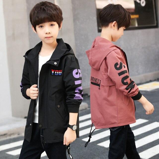 Детские пальто для мальчиков осень-зима куртка для мальчиков детей Костюмы верхняя одежда с капюшоном для маленьких мальчиков одежда 4 6 7 8 9 10 11 12 13 год